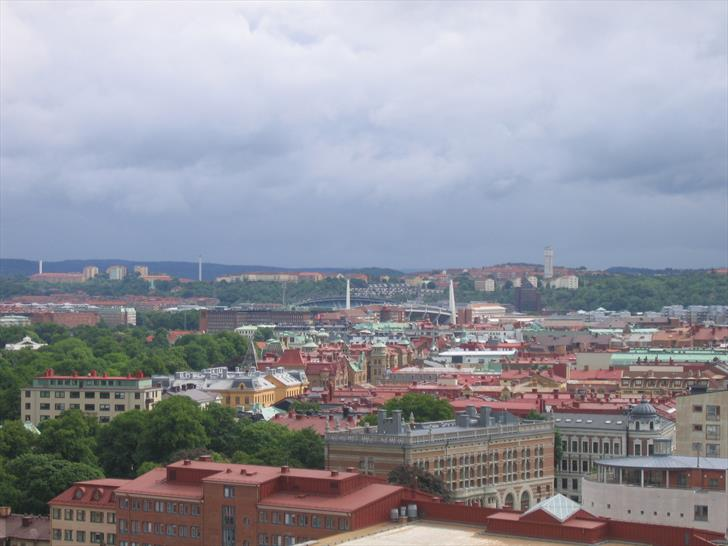 Gothenburg stadium from Skansen Kronan