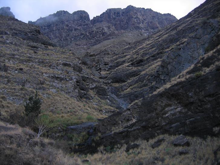Barranco de La Palma, looking inlands