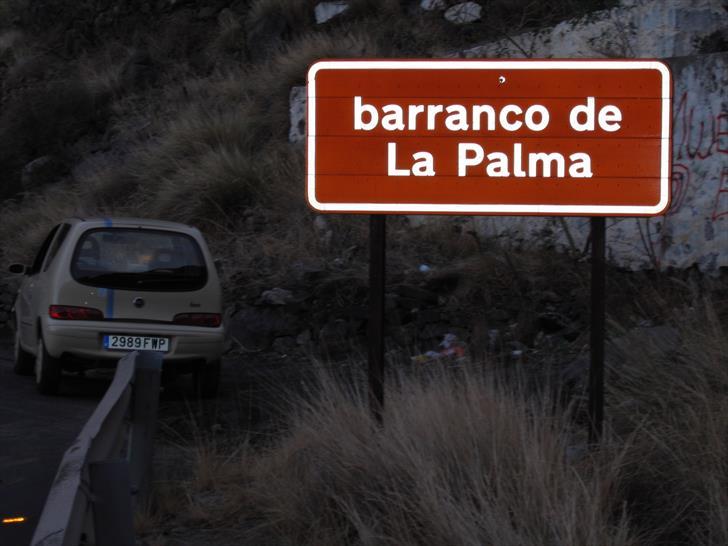 Barranco de La Palma sign