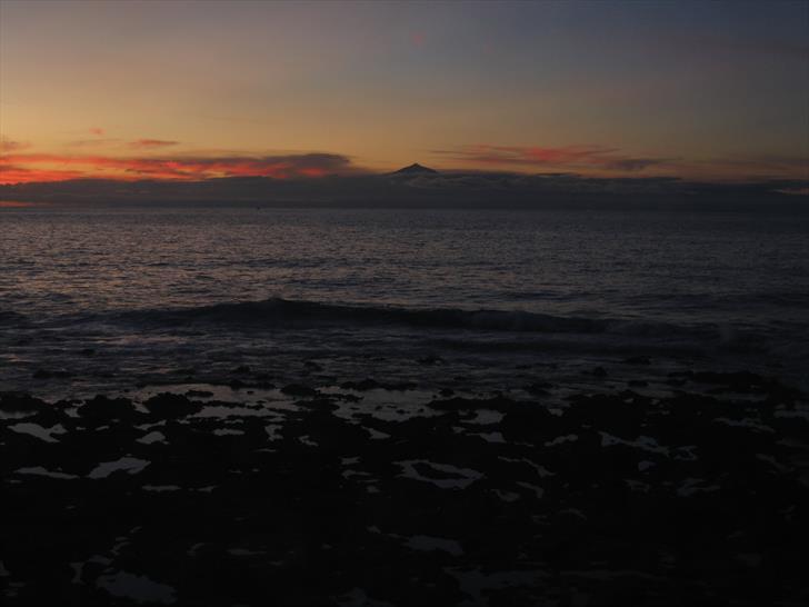 Teide from Puerto de las Nieves a bit later