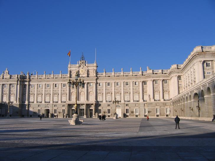 Madrid Royal Palace courtyard