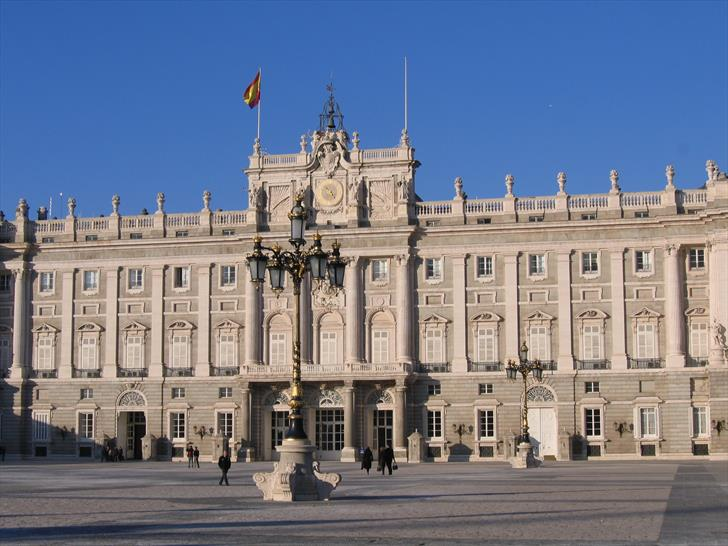 Madrid Royal Palace from Almudena Cathedral
