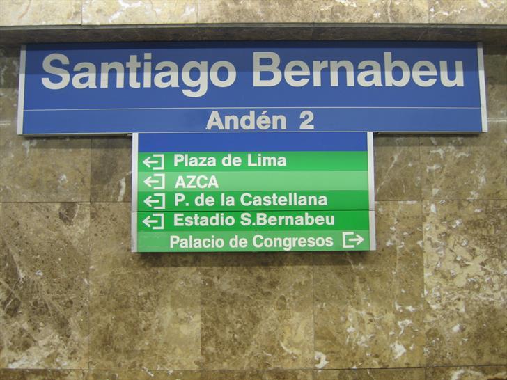 Santiago Bernabéu directions