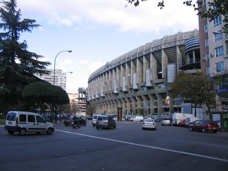 Santiago Bernabéu Stadium at Plaza de Lima