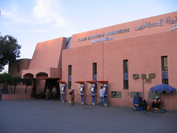 Marrakech bus station building