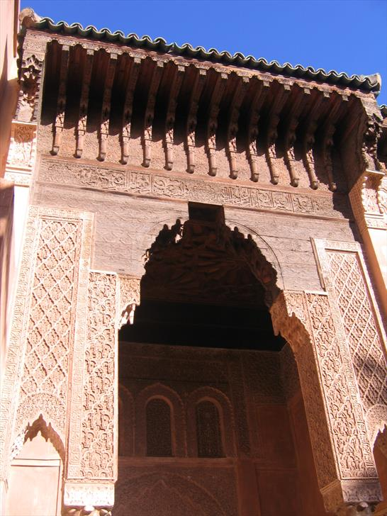 Architecture around Saadian Tombs courtyard
