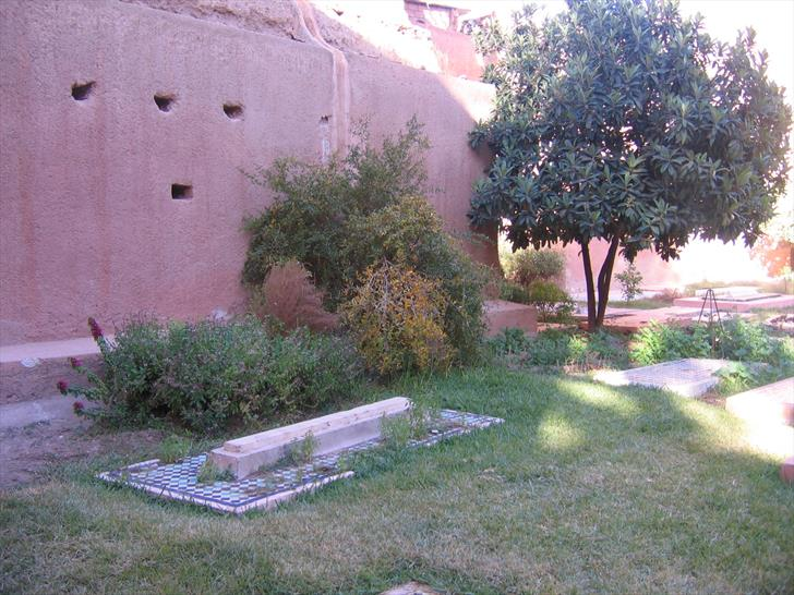 Tombs in the courtyard