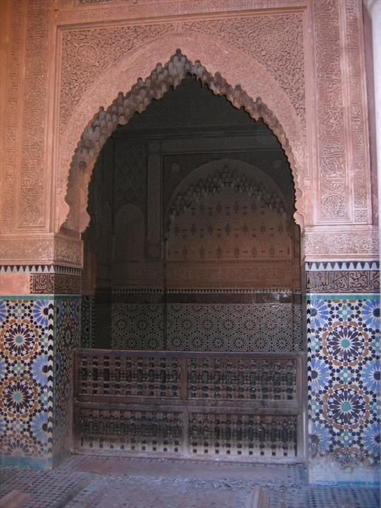 Saadian Tombs interior decorations