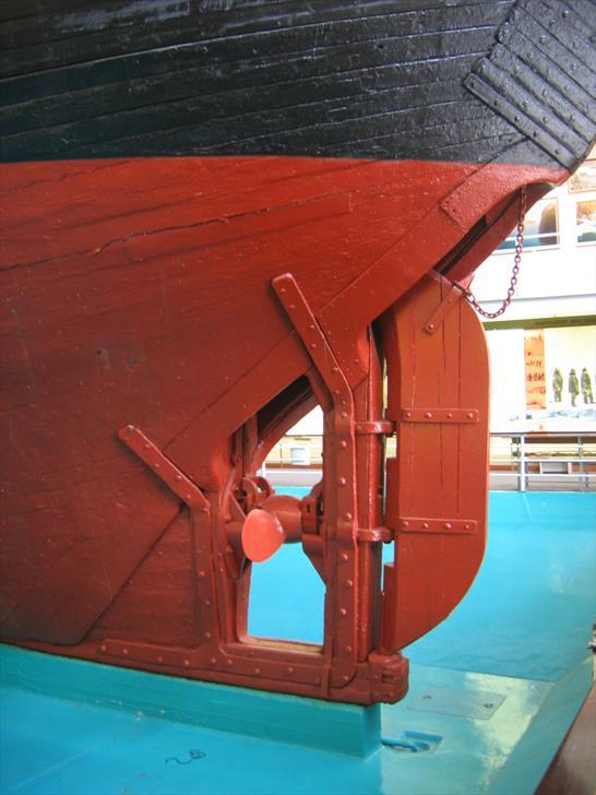 The Fram's rudder