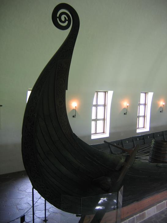 Oseberg ship prow