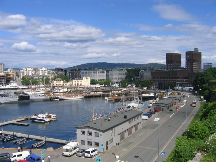Oslo Harbour and City Hall from Akershus Fortress