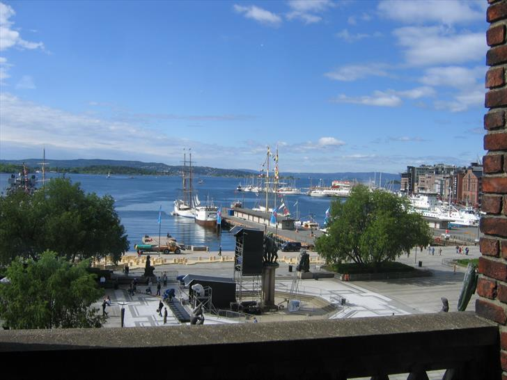 Oslo harbour from the city hall
