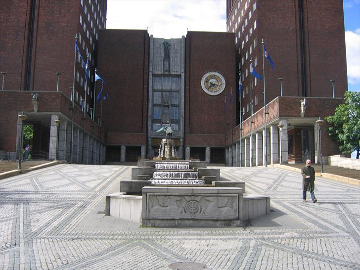 Oslo City Hall main entrance