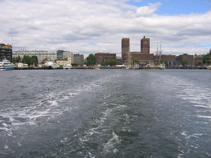 Oslo City Hall from a boat