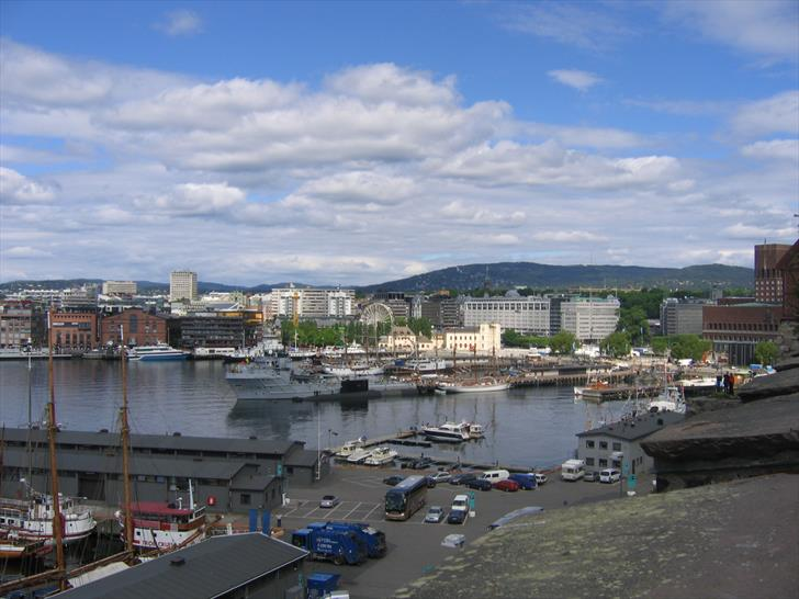 Oslo Harbour as seen from Akershus Fortress