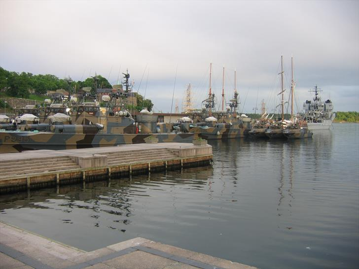 Royal Norwegian Navy ships in Oslo Harbour