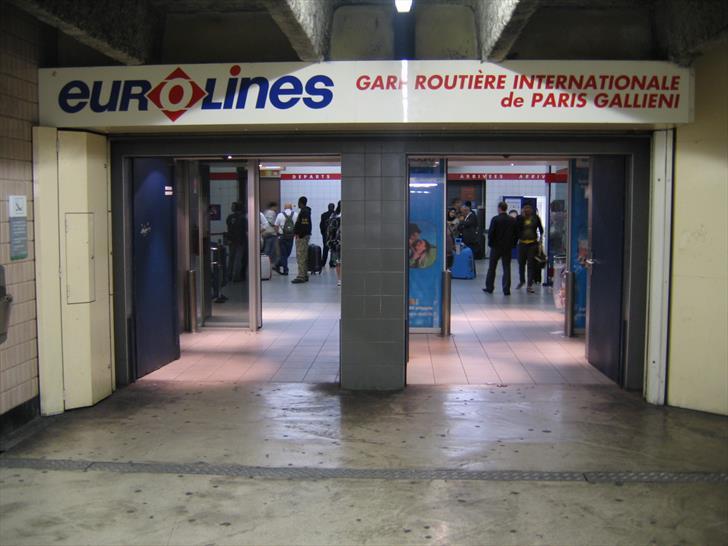 Paris Gallieni bus station entrance
