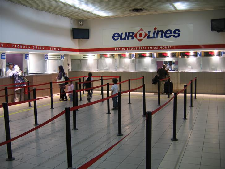 Eurolines ticket counters at Gallieni bus station