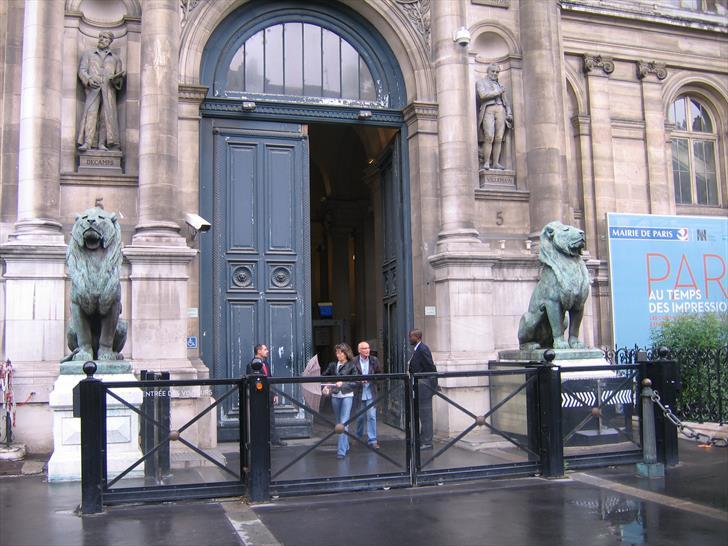 Entrance to Hotel de Ville from Rue de Lobau