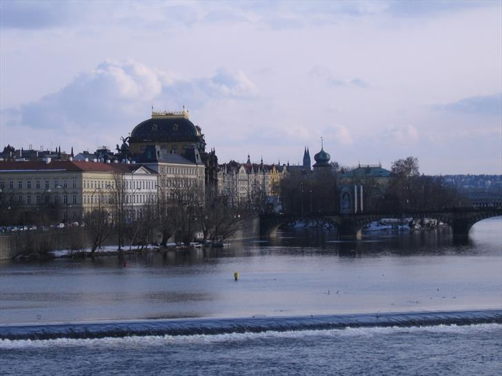 National Theatre from Charles Bridge (February)