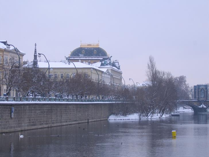 National Theatre from Charles Bridge (January)