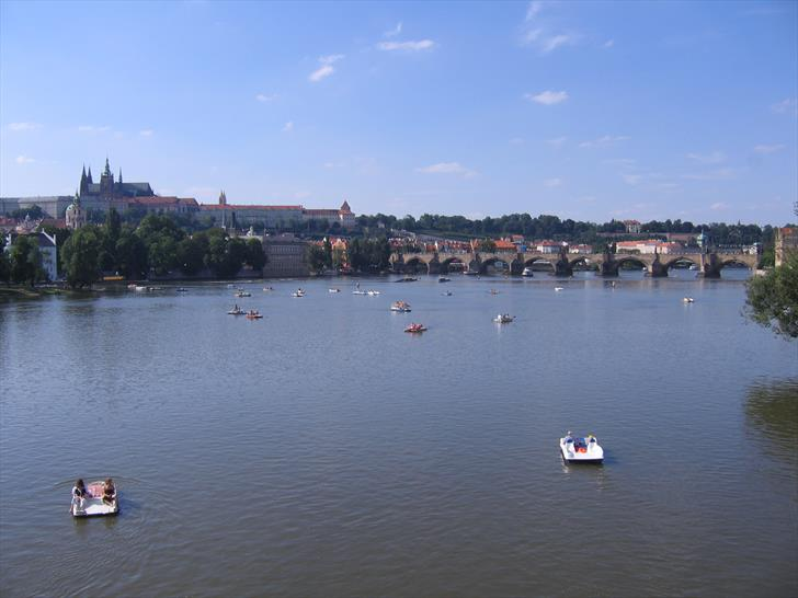 Prague boat rentals and Charles Bridge