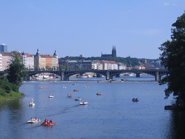 Prague boat rentals and Vyšehrad