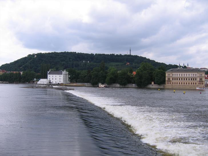 Prague river weir