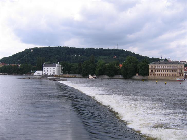 Prague river weir