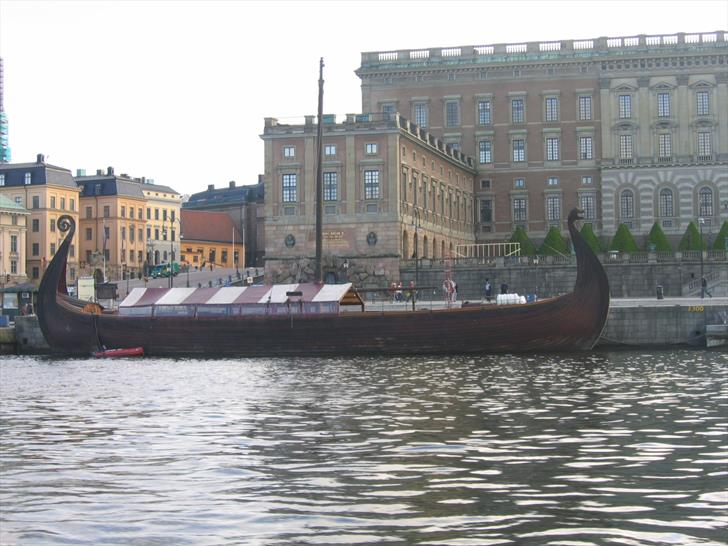 Viking Ship in front of Stockholm Royal Palace
