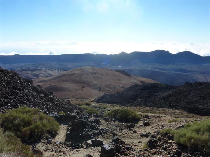 The path between the parking and Refugio Altavista