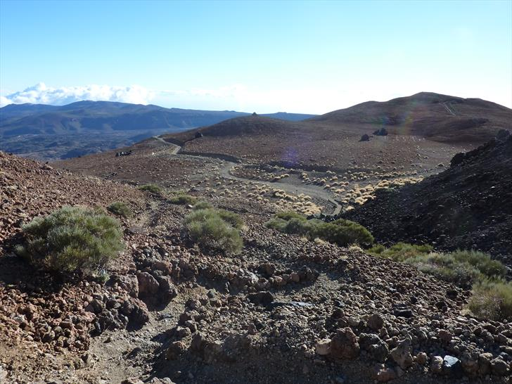 The path between the parking and Refugio Altavista, just above Montaña Blanca