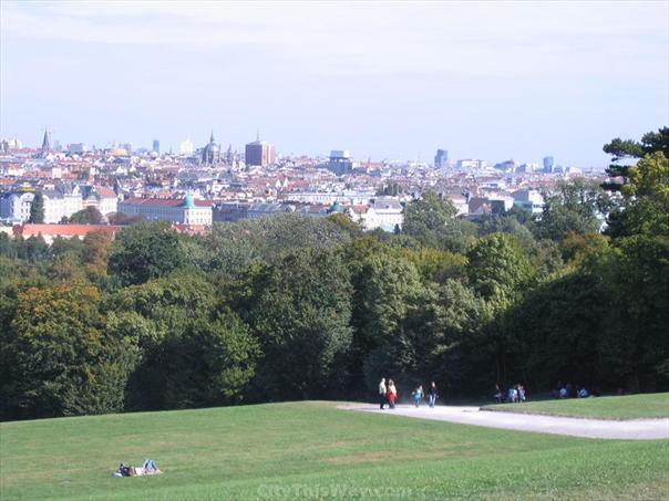 View of Vienna from Schönbrunn Park