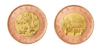 50 CZK coin